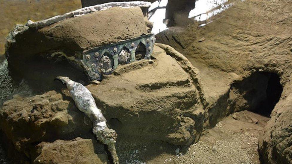 Uno de los restos de Pompeya.