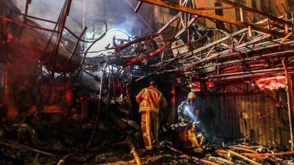صورة تظهر تدمير العيادة