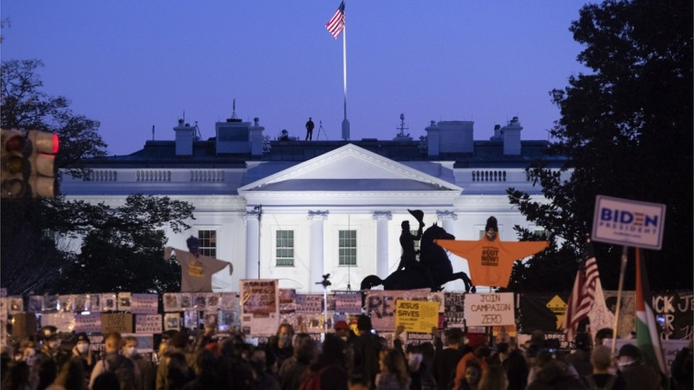 White House on election day