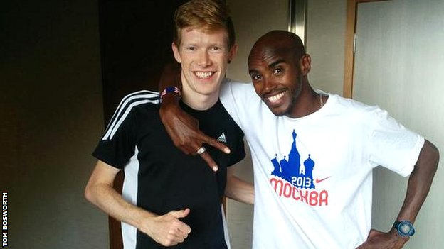 Tom Bosworth and Mo Farah