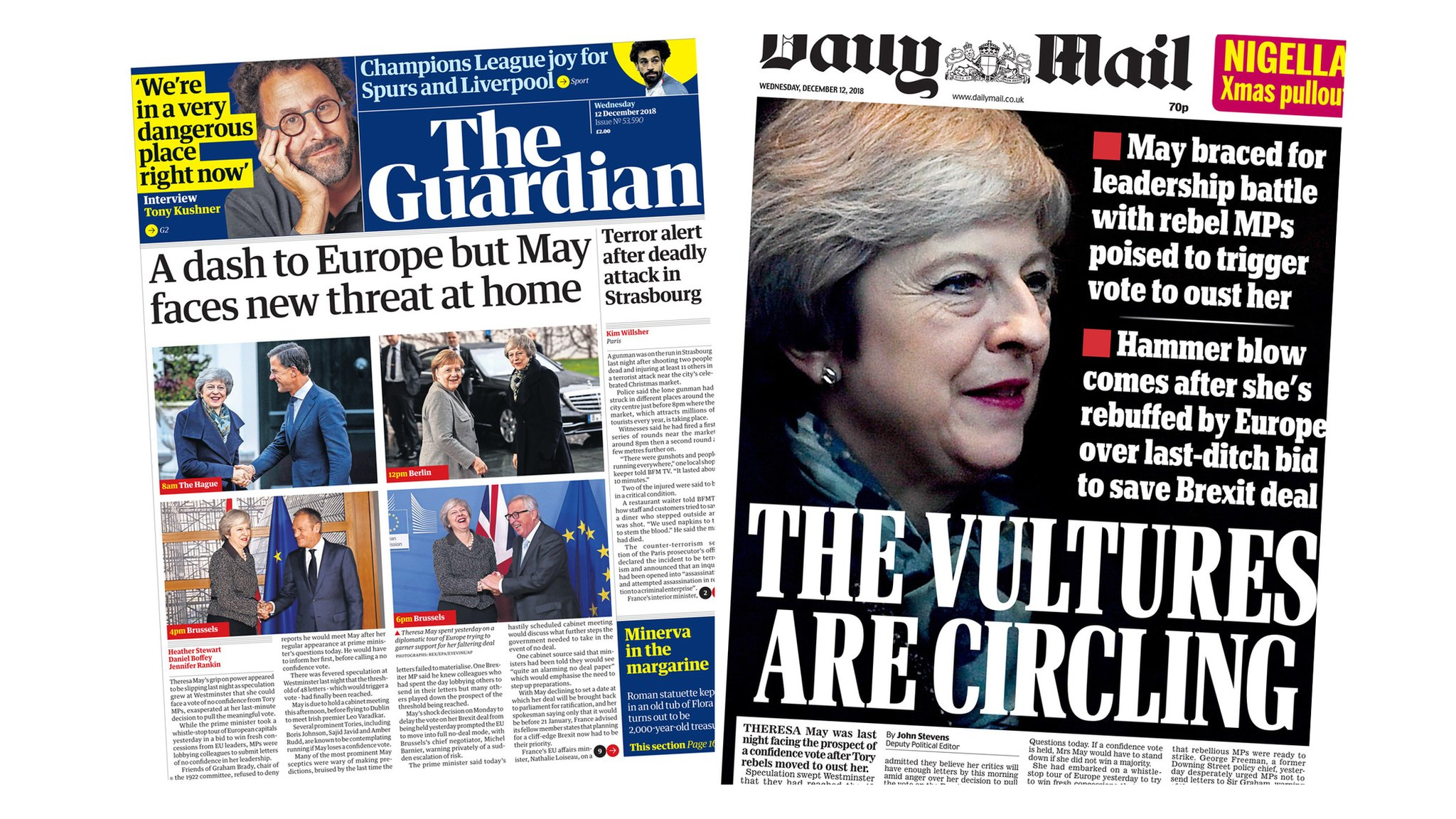 Paper review: PM in jeopardy as Tory MPs mutiny