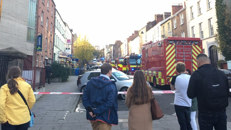 Man critical after fire at block of flats in Londonderry