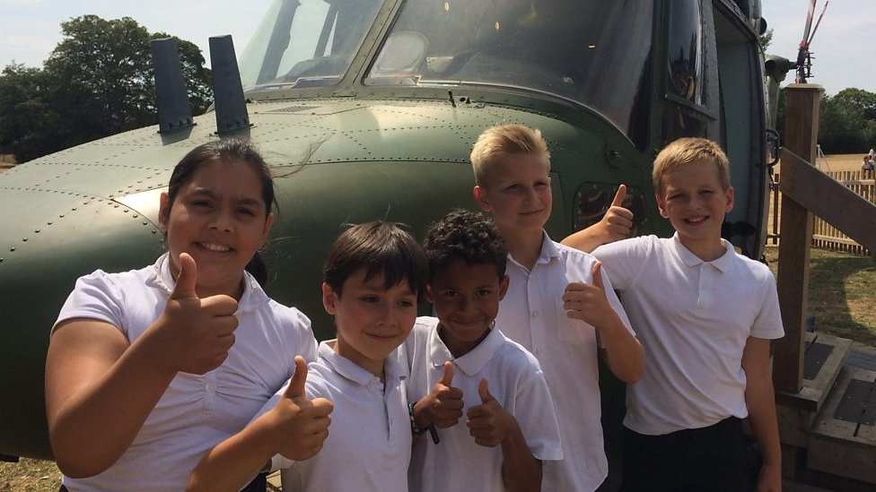 Ipswich school converts a helicopter into a classroom