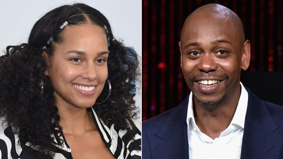 Alicia Keys and Dave Chappelle