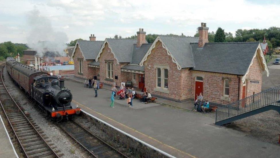 Butterley Station, in Derbyshire