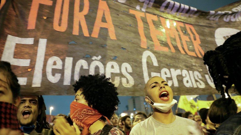 Protesto contra governo Temer em São Paulo, 2 de setembro de 2016