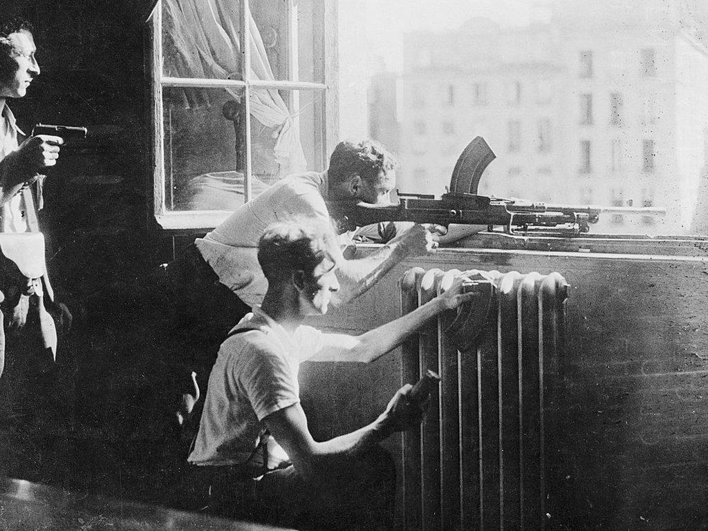 Combatientes de la Resistencia francesa