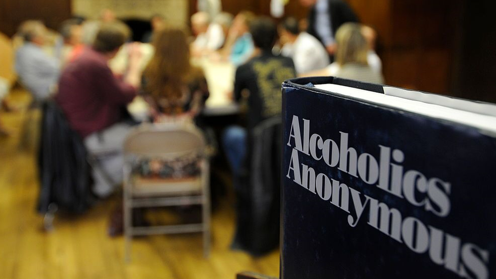 An Alcoholic Anonymous meeting held in France