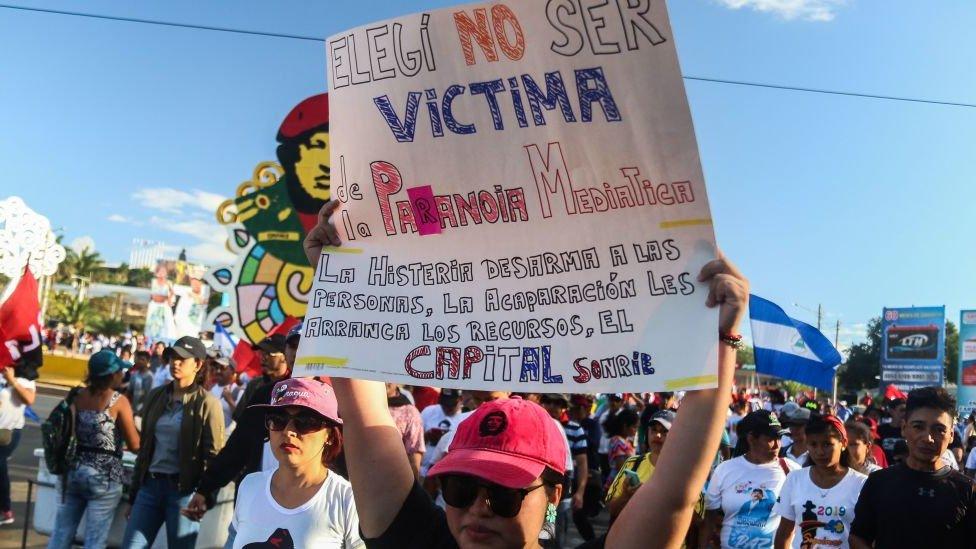 """Marcha """"Amor en tiempos de covid-19"""" en Nicaragua"""