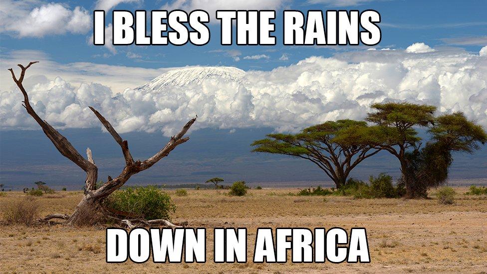 Kilimandžaro i tekst pesme Afrika