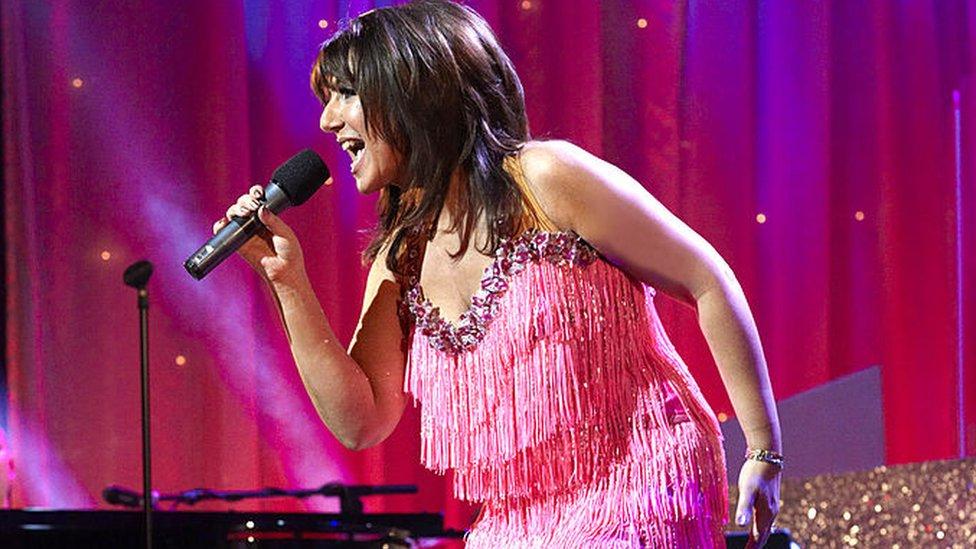 Jane on stage performing