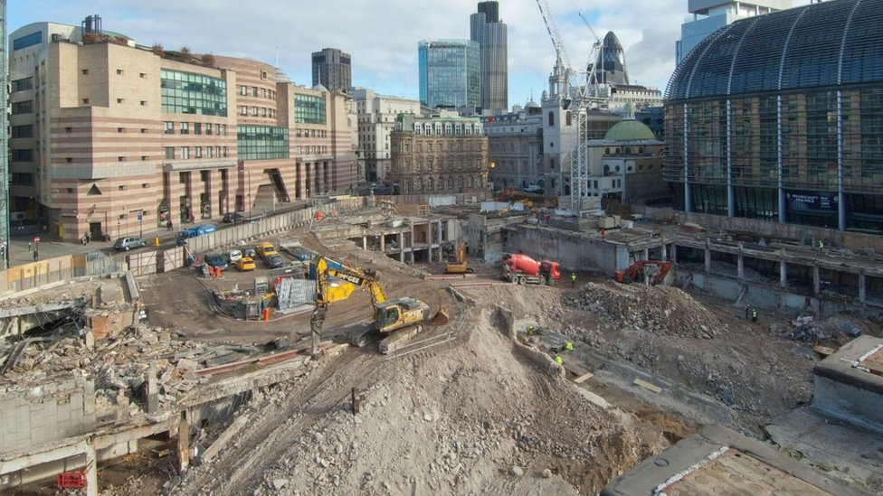 Bloomberg construction site