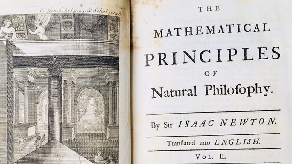 Opening page of Mathematical Principles of Natural Philosophy