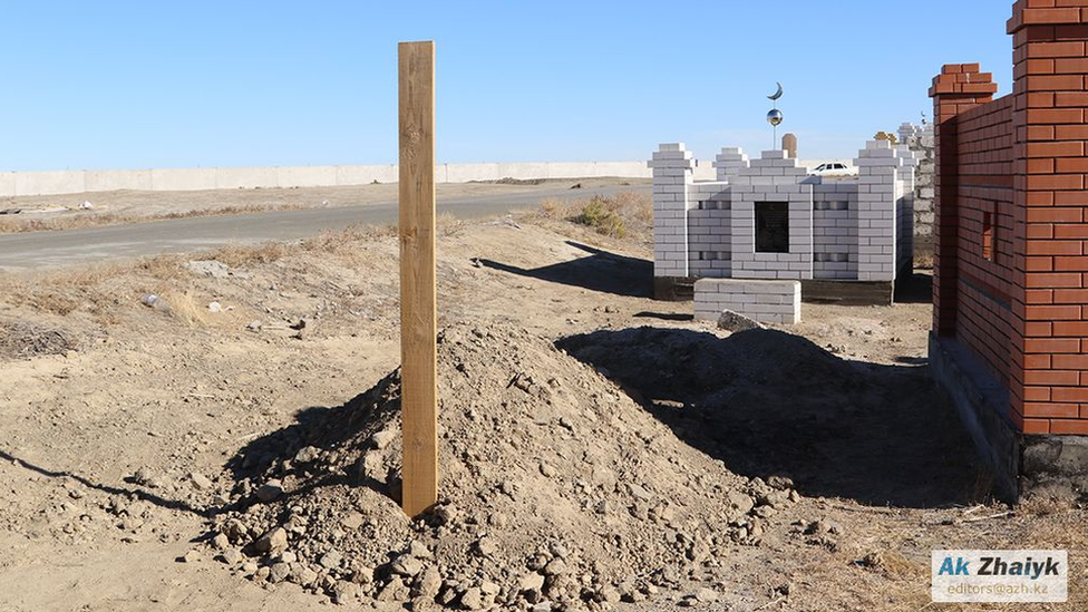 The grave of Aigali Supygaliev, Kazakhstan, 2018