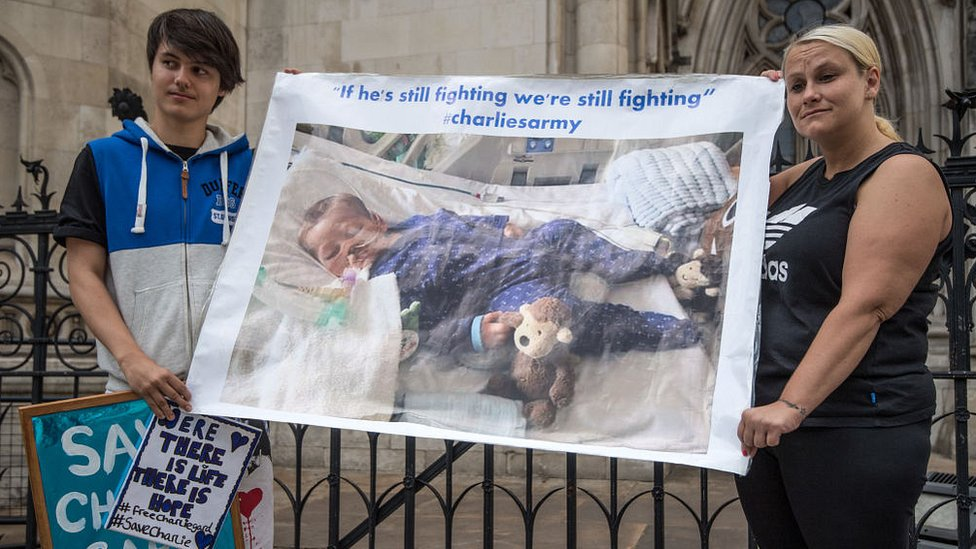 Royal Court of Justice poster protest