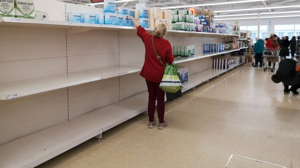 Coronavirus: Supermarkets ask shoppers to be 'considerate' and stop  stockpiling - BBC News