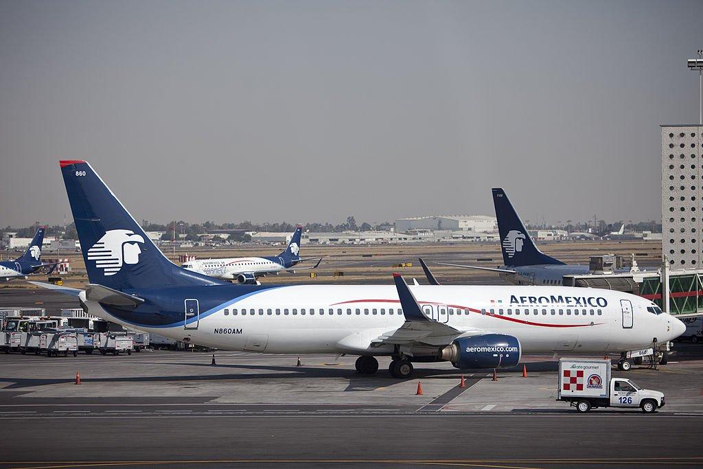Aviones de Aeroméxico en Ciudad de México
