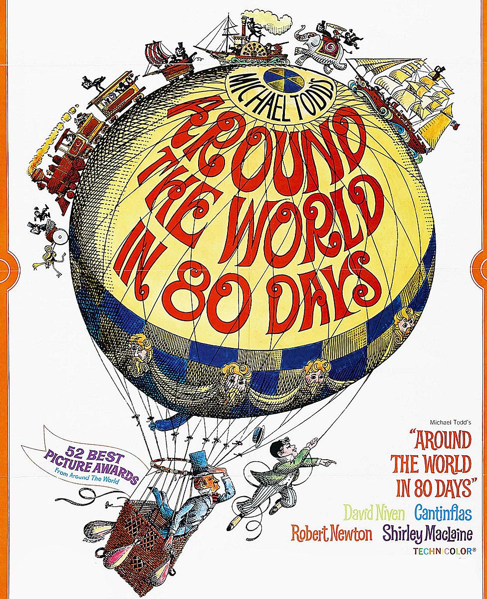 Afiche de la película inspirada en esa obra de Julio Verne