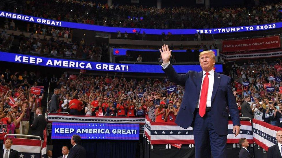 Predsednik Tramp, miting u Orlandu