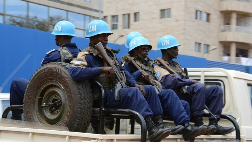 UN Minusca peacekeepers. File photo