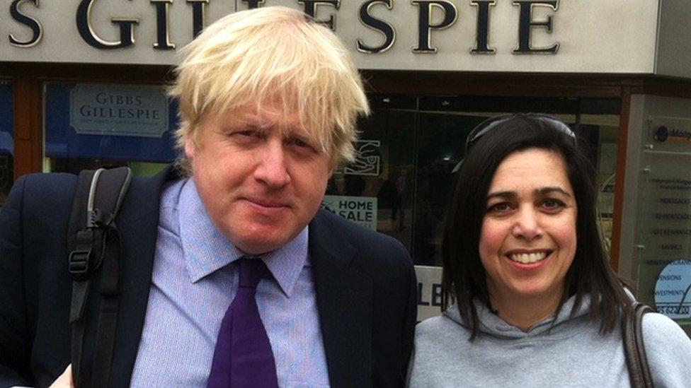 Lottie Jones with Boris Johnson in 2015