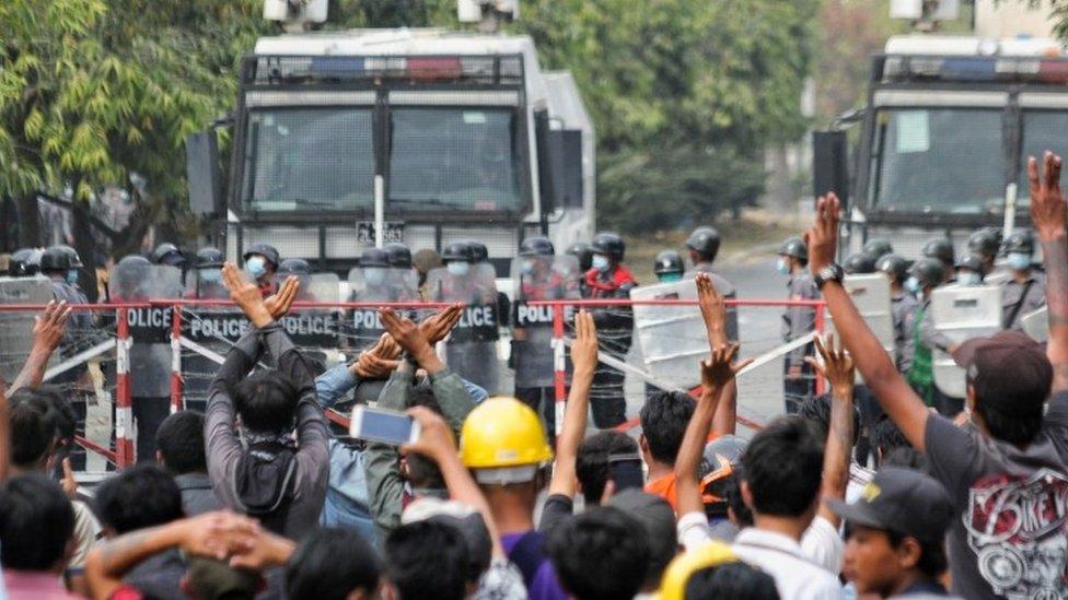 احتجاجات في ميانمار