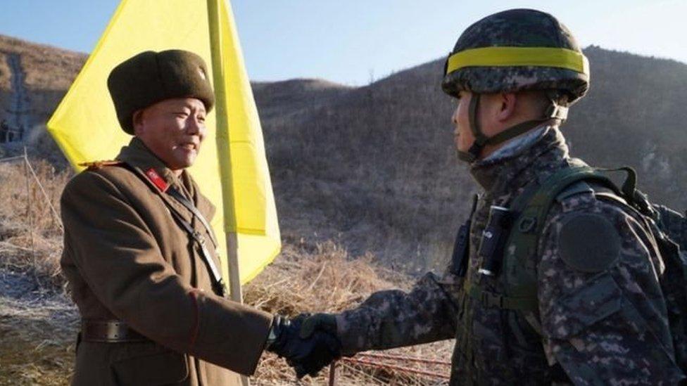 جنود في المنطقة منزوعة السلاح بين الكوريتين