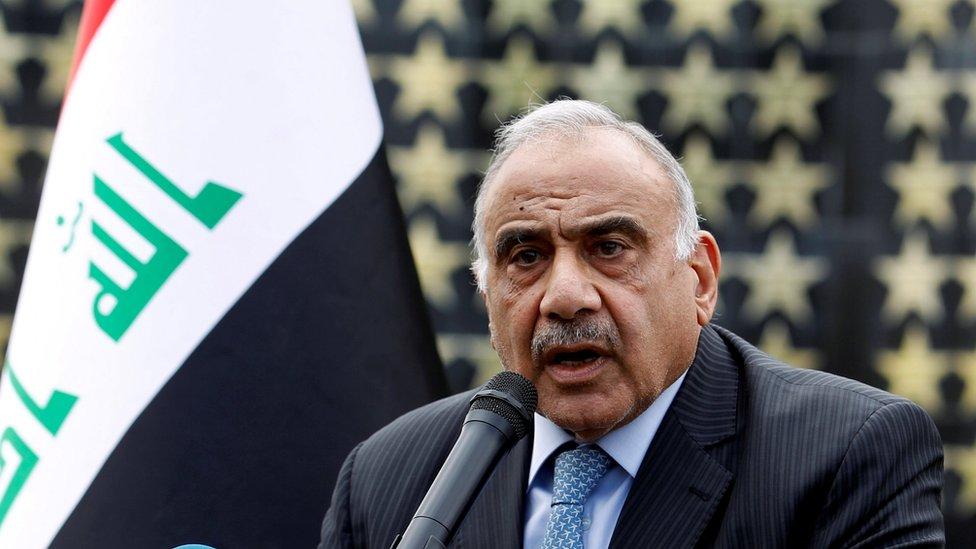 Primer ministro iraquí Adel Abdul Mahdi