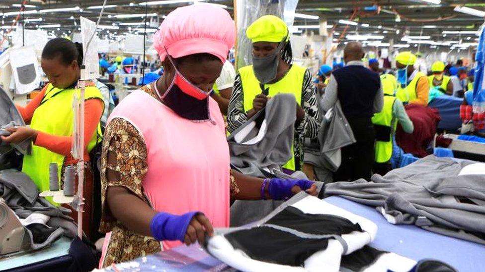 Women in a garment factory