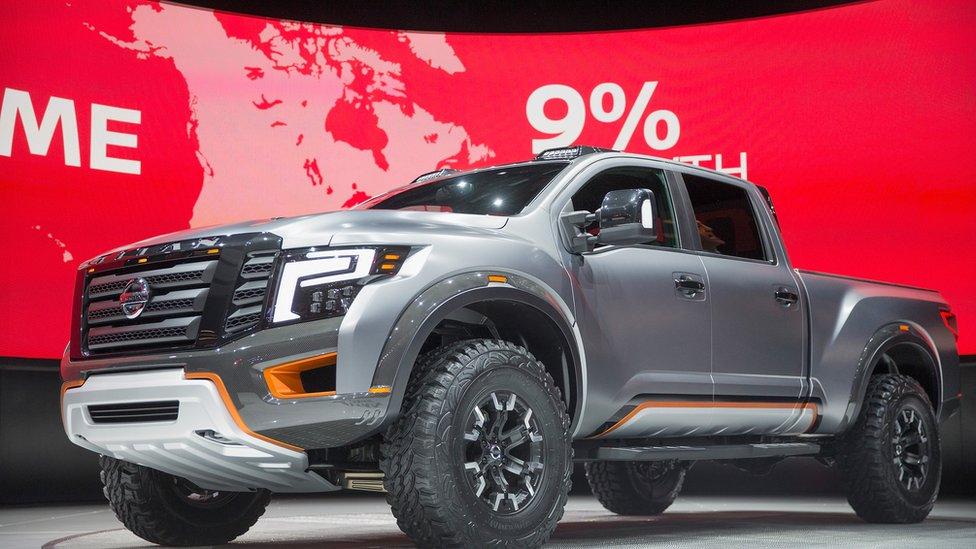 The Nissan Titan Warrior concept vehicle