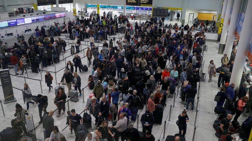 Gatwick Airport on Saturday