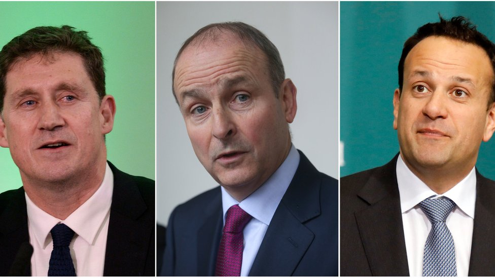 Eamon Ryan, Micheal Martin and Leo Varadkar
