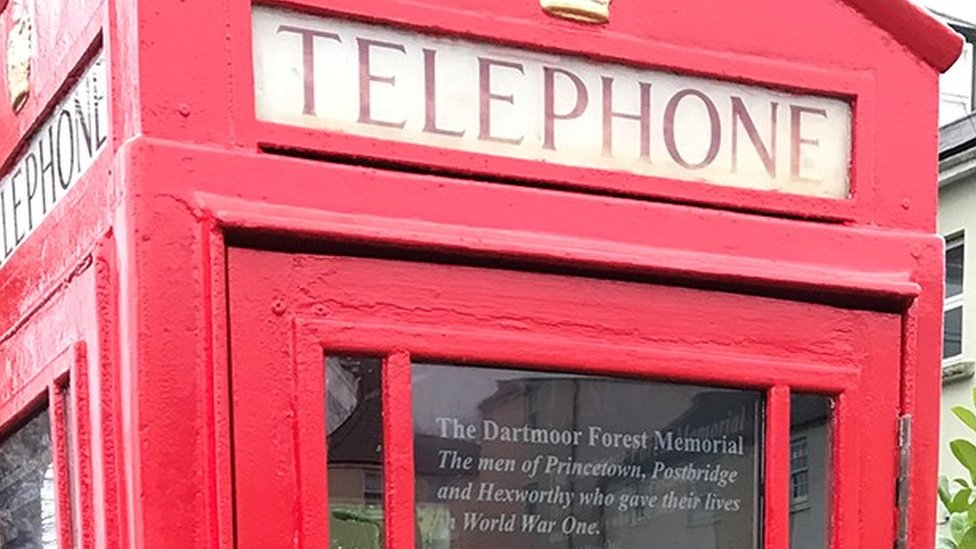 Princetown phone box converted into WW1 exhibition