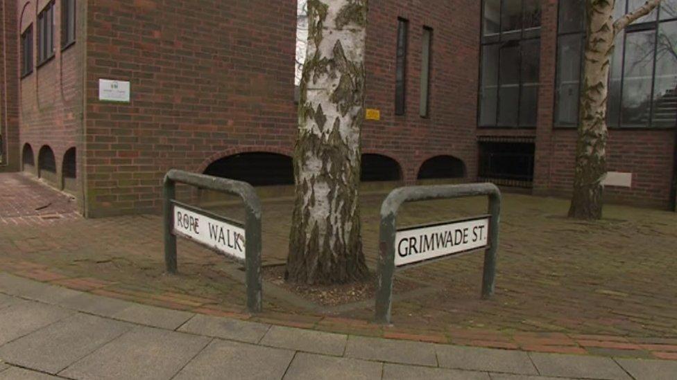 Scene of attack in Ipswich