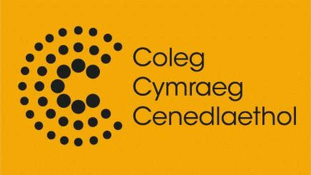 Logo'r Coleg Cymraeg Cenedlaethol