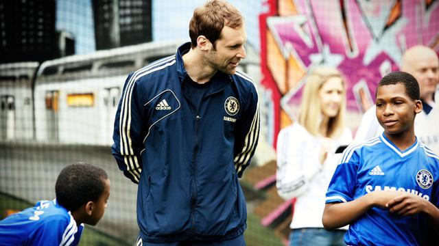 Chelsea players meet FC Harlem