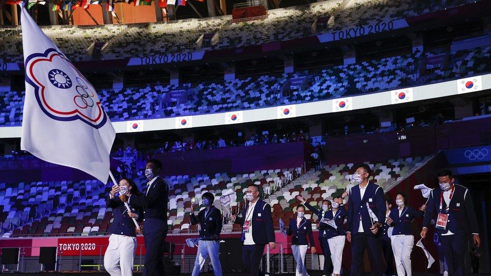 東京奧運開幕式中華台北代表團進場(23/7/2021)