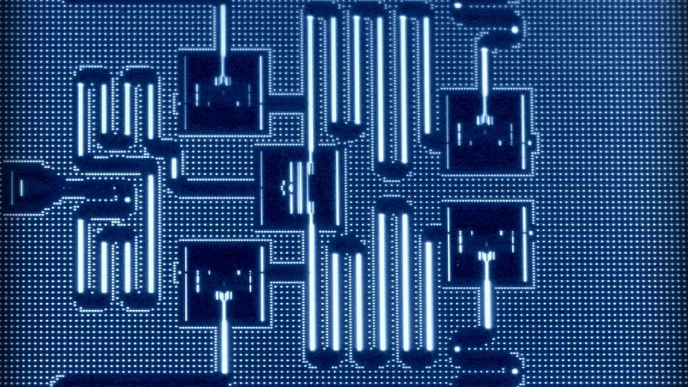Layout of IBM's five qubit processor