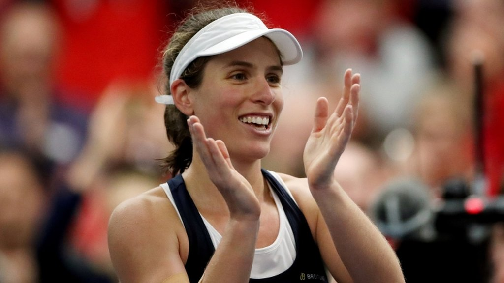 Konta & Boulter win tense three-setters to seal Fed Cup group win