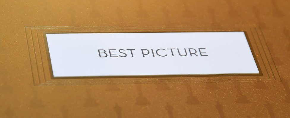 Envelope containing winning Best Picture