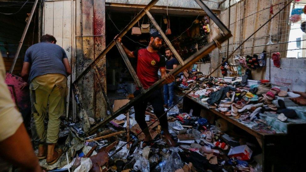 التفجير استهدف سوقا في منطقة مدينة الصدر