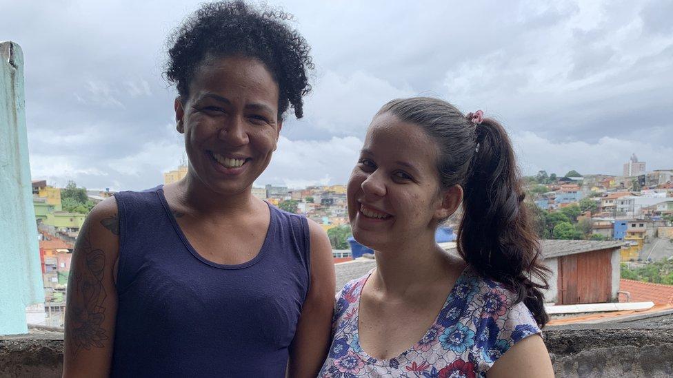 Danie Sampaio y Vitoria Maria de Oliveira.