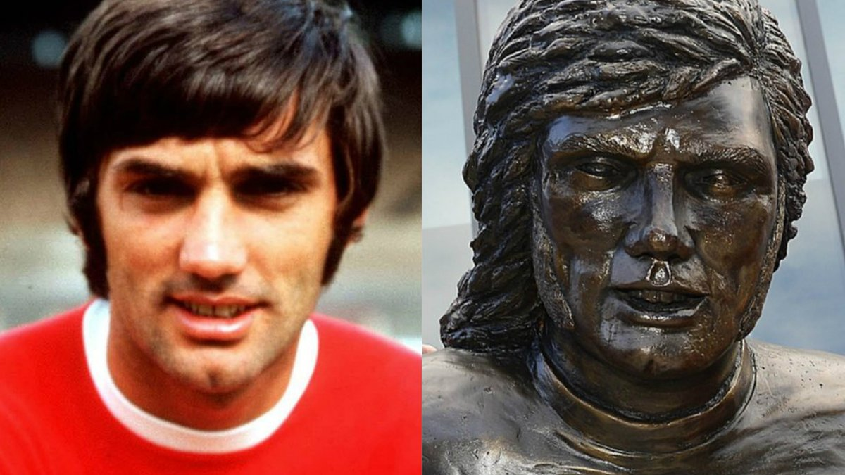 George Best statue mocked by fans