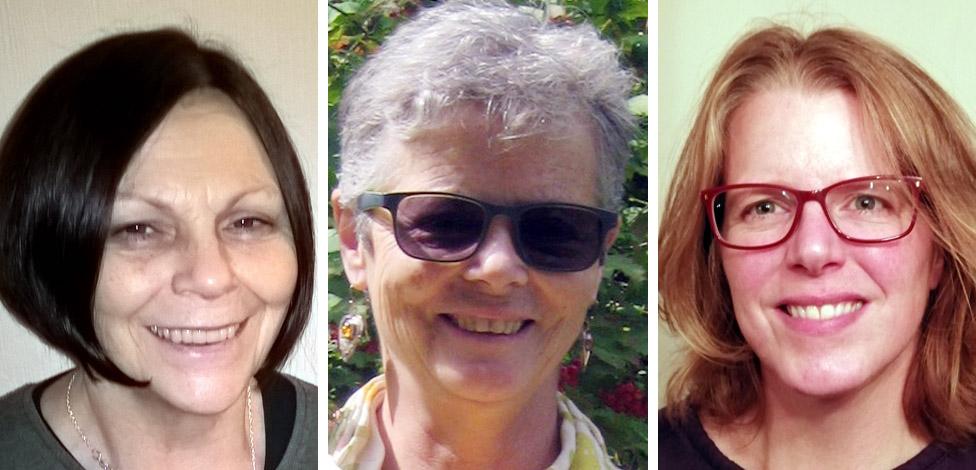 Jenny Stacey, Linda Murgatroyd and Sarah Cooper