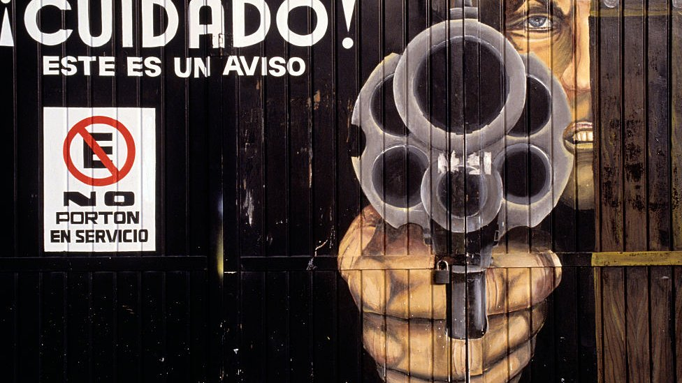 Cartel amenazante en México.