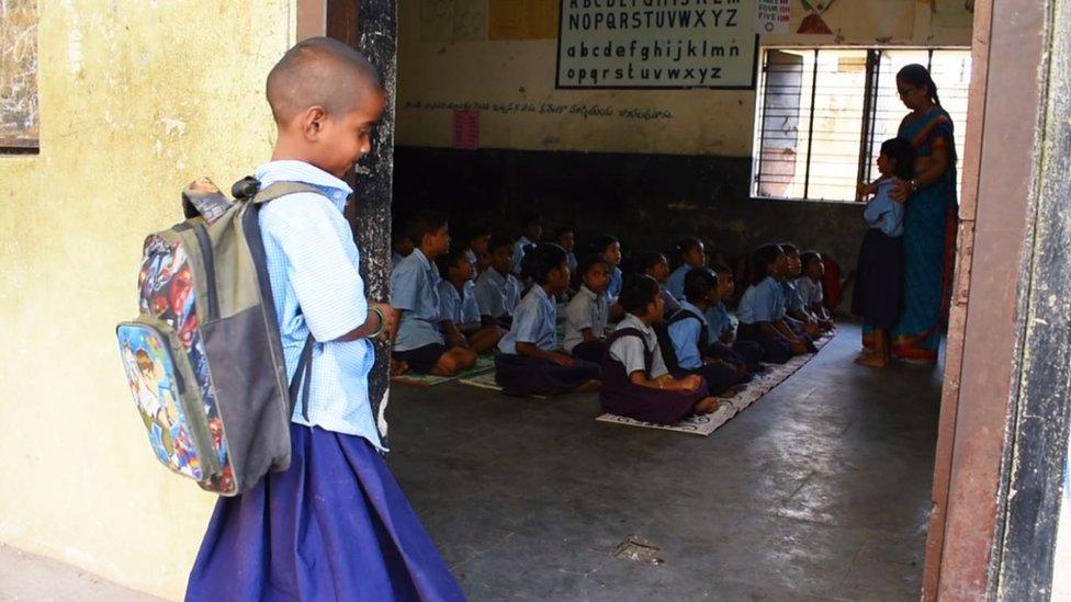 Divya in her new school