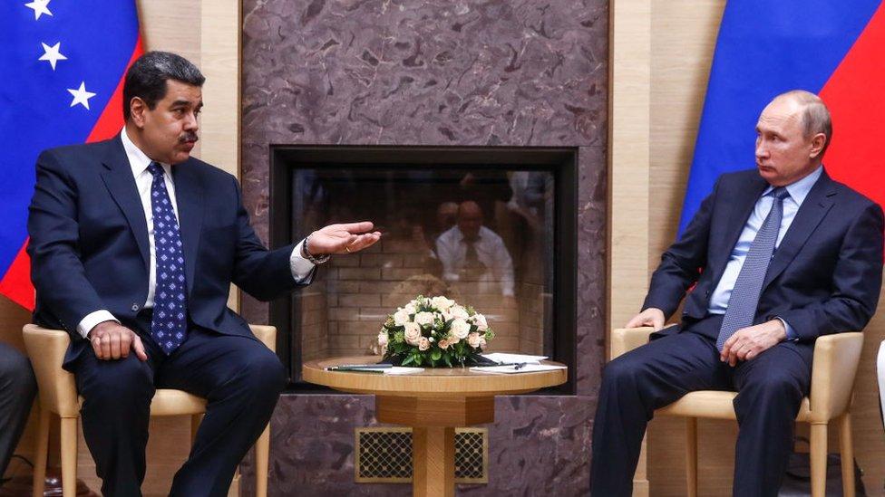 Nicolás Maduro y Vladimir Putin.