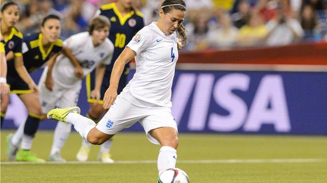 Fara Williams penalty doubles England lead