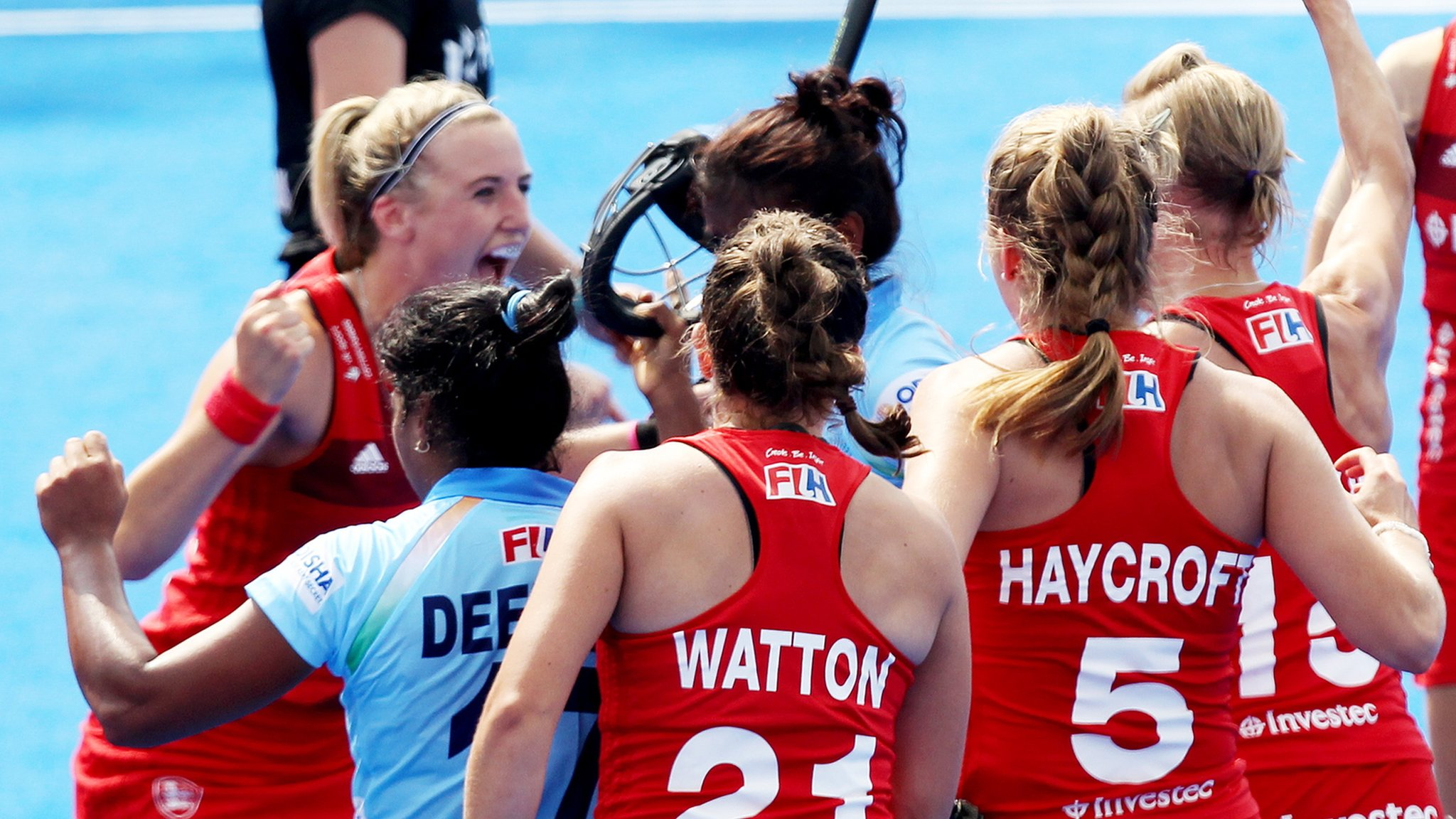 Hockey Women's World Cup: England come from behind to draw with India