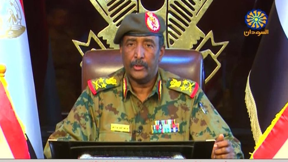 Sudan military council leader Lt-Gen Abdel Fattah Abdelrahman Burhan pledged to restructure the country.